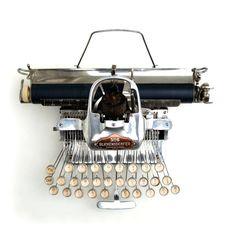 Amazing Antique Blickensderfer No.6 Typewriter, Rare Aluminum Script Typeface.
