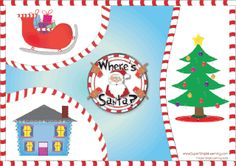 """Practice prepositions of place with the """"Where's Santa?"""" Game, Level 3. From Super Simple Learning. #Christmas #Kindergarten #ESL"""