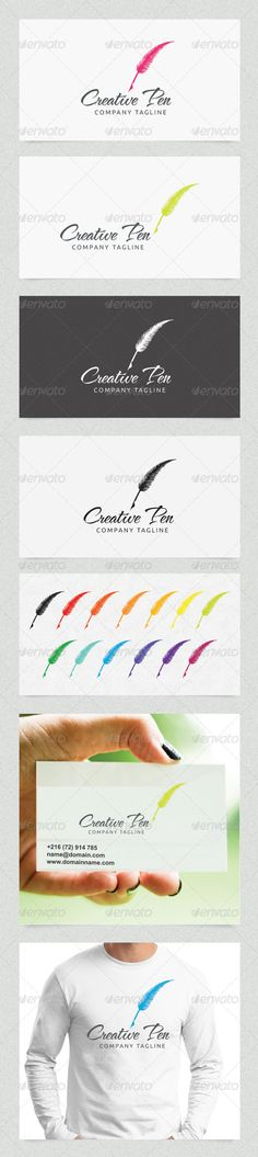 Creative Pen - Logo Design Template Vector #logotype Download it here: http://graphicriver.net/item/creative-pen/4508652?s_rank=253?ref=nexion