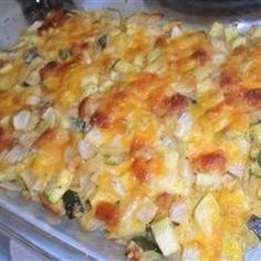 Cheesy Zucchini Casserole I   Add cooked turkey