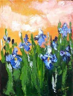 oil painting | Iris at Dusk | Ugallery Online Art Gallery