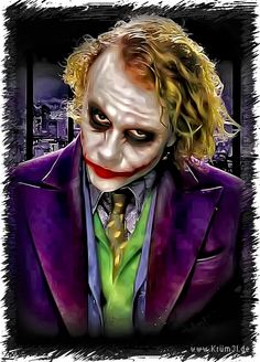 Joker 2 - Heath Ledger by kruemel-sangerhausen on DeviantArt Joker Batman, Joker Heath, Joker Art, Heath Ledger Joker Pics, Gotham Batman, Batman Art, Batman Robin, Batman Joker Wallpaper, Joker Iphone Wallpaper