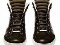 Dior Homme Leather High-Tops Sneakers