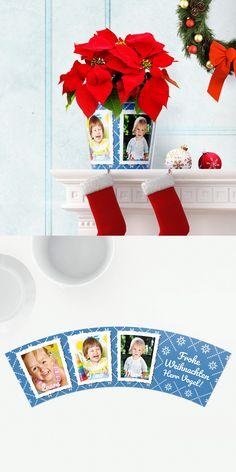 Lehrer Weihnachtsgeschenk Topf mit 3 Fotos 🌟🌲 Schöne Idee von Kindern zu Weihnachten als Geschenk für den liebsten Lehrer