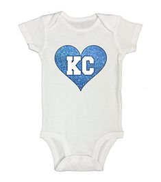 Baseball Fan Heart Kansas City  Cute Shirts and Onesies  Little Royaltee Shirts 69 Months White -- Continue to the product at the image link.Note:It is affiliate link to Amazon.