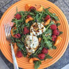 Arugula, Raspberries, Apricot & Burrata Salad via @feedfeed on https://thefeedfeed.com/farm-fresh/bigflavors/arugula-raspberries-apricot-burrata-salad