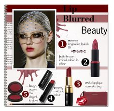 """BEAUTY: Lip Blurred!!!!!"" by alves-nogueira ❤ liked on Polyvore"