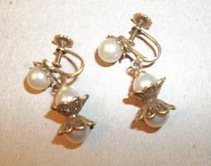 Downton Abbey Jewelry. Earrings. Goldtone. VALENTINE GIFT. Downton Abby.  via Etsy.