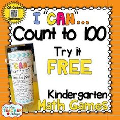 Are you in need of a FUN way for your students to practice the math standards, and review for assessments? These I CAN Math games make reviewing and preparing for any kind of math test EXCITING all year long!This FREE I CAN game reinforces the 1st grade Common Core Math Standards focusing on Counting to 100.If you like this, check out my   I CAN Kindergarten math game BUNDLE!!! {CLICK HERE}Still have questions???