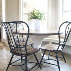 Kitchen table round furniture plans Ideas for 2019 Woodworking Outdoor Furniture, Diy Furniture Building, Diy Furniture Plans, Wood Furniture, Furniture Stores, Woodworking Ideas, Diy Table Top, A Table, Dining Tables