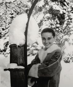 St Moritz, Switzerland, Christmas, 1958: Audreyon awell deserved holiday in her adopted homeland. Photo by Mel Ferrer