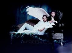 Supernatural - Sam and Dean Winchester <- Does anyone else think this is a depiction of Michael and Lucifer?
