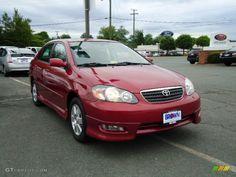 2006Toyota Corolla  | 2006 Toyota Corolla S - Impulse Red Pearl Color / Dark Charcoal ...