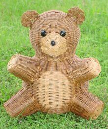 woven teddy bear basket
