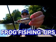 Fishing a topwater frog for largemouth bass is by far one of the most exciting ways to catch them! In this video I explain the tips and techniques on how I fish a frog to catch bass, as well as go … Bass Fishing Tips, Best Fishing, Fly Fishing, Fishing Lures, Fishing Basics, Fishing Stuff, Fishing Tricks, Fishing Videos, Crappie Fishing