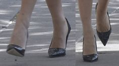 Blake Lively in snakeskin pumps for a 'Lucky' magazine photoshoot in New York City on May 7, 2013