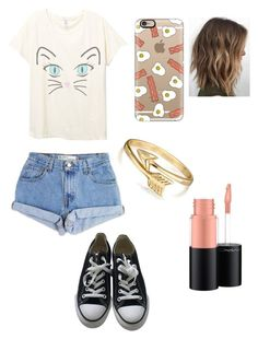"""Untitled #228"" by nicole22 ❤ liked on Polyvore featuring Levi's, Converse, Casetify, Bling Jewelry and MAC Cosmetics"