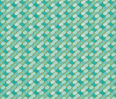 Sea Green Mermaid Tail fabric by gypsymothdesign on Spoonflower - custom fabric