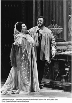 Two of my favorite legendary opera singers: Montserrat Caballe and Luciano Pavarotti