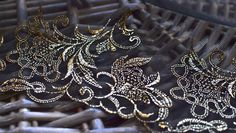 1 yard 27cm wide black and gold lace trim I Bridal lace trim I Wedding lace trim I Fancy lace trim I Lace trim I Luxury lace trim I DIY lace by SixthCraft on Etsy