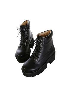 Platform Rough-heel Colorblocked Dr Martens | BlackFive