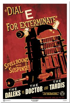 Doctor Who  classic movie poster designs