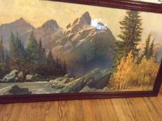 This is an awesome painting by Robert Wood Wood Paintings, Landscape Paintings, Robert Wood, Wooded Landscaping, Wood Art, Pastels, Woods, Old Things, Artsy