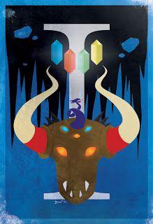 Final Fantasy I Vintage Poster.