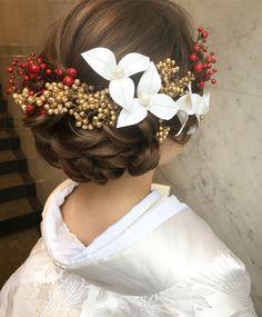 Japanese Beauty Hacks, Girl Hairstyles, Wedding Hairstyles, Wedding Kimono, Graduation Hairstyles, Hair Arrange, Japanese Hairstyle, How To Make Hair, Wedding Images