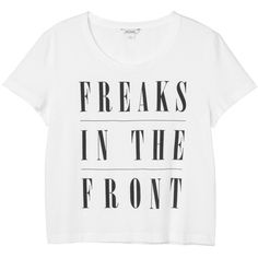 Monki Katy tee ($11) ❤ liked on Polyvore featuring tops, t-shirts, shirts, tees, wondrous white, t shirts, monki, white t shirt, white tops and shirts & tops