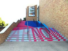 More and more universities are using stair graphics to announce events, add color to their campuses, and for wayfinding