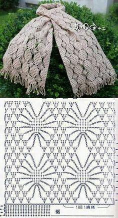 Schéma ou diagramme pour crochet Écharpe ou autre