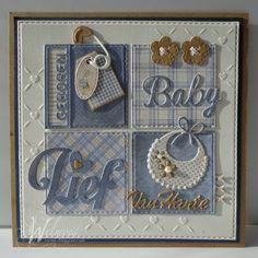 Baby Boy Cards, New Baby Cards, Baby Shower Cards, Baby Scrapbook, Scrapbook Cards, Welcome Card, Homemade Birthday Cards, Karten Diy, Fancy Fold Cards