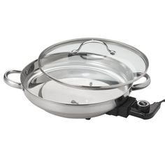 Aroma Housewares AFP-1600S Gourmet Series Stainless Steel Electric Skillet -- This is an Amazon Affiliate link. Click image for more details.