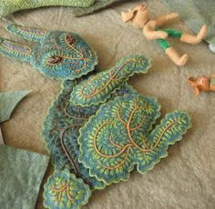 Salley Mavor wool felt applique and embroidery