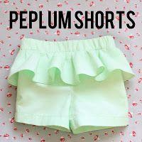 peplum shorts