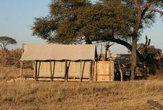 """Um dem Bedürfnis nach Naturnähe gerecht zu werden, lassen sich die Anbieter stilvoller Unterkünfte einiges einfallen. Selbst die berühmt-berüchtigte """"Bucket-Shower"""" (Eimer-Dusche) gibt es mittlerweile in anspruchsvoller Ausführung. Die Ausrichtung, geschickte Architektur und Sichtschutz-Vorrichtungen sorgen dafür, dass das Bad Rückzugsort bleibt und die Intimsphäre gewahrt ist. Foto: Bucket Shower, Somalisa Camp/ African Bush Camps, Zimbabwe"""