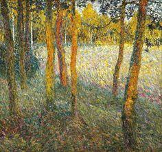 Léon De Smet (Belgian, 1881-1966), Aan de rand van het bos [At the edge of the forest], 1909. Canvas, 75 x 80 cm.