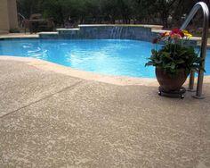 <b>Sundek</b> of Austin – <b>Concrete</b> coatings, restoration and repair of . Swimming Pool Designs, Swimming Pools, Pergola Patio, Backyard, Deck Finishes, Pool Colors, Concrete Porch, Pool Remodel, Cool Deck