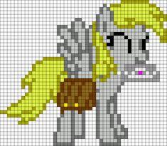 Derpy Hooves My Little Pony perler bead pattern