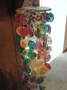 beaded wind chimes craft   wind chyme made out of melted plastic beads!