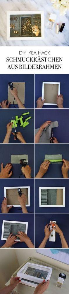 DIY Ikea Hack Bilderrahmen Schmuckkästchen selber machen