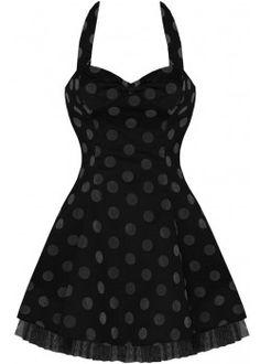 Dot Flocked [Black] | DRESS