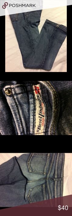Authentic Diesel jeans size 30. Diesel blue jeans in medium blue color, 5 functional pockets, belt loops zip front with 2 button closure on top the are exquisite and too great to pass up if you are looking for comfort, style, class and excitement look no further than these Diesel jeans they are what you have always been looking for you just did not know it until now. Diesel Jeans