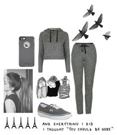 """""""Dark Boring Rainy Day!"""" by tamiaming22 on Polyvore featuring Topshop, Vans and OtterBox"""