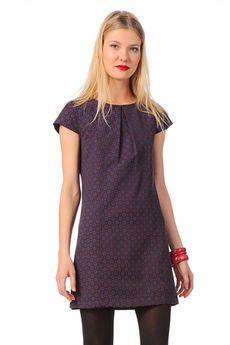 vestido trapecio - abigail - Rojo / Coral