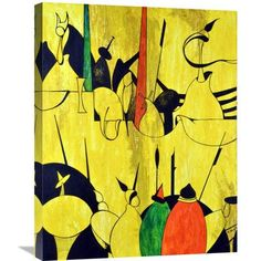Naxart 'Yellow' Painting Print on Wrapped Canvas Size: