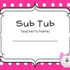 Need to create a sub tub? This colorful freebie includes the following:*A sub tub cover*School information sheet (to fill in principal's name, s...