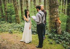 55 Relaxed Summer Woodland Wedding Ideas | HappyWedd.com #PinoftheDay #relaxed #summer #woodland #wedding #ideas #WoodlandWedding