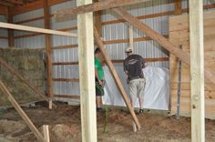 The barn has been gutted and now we're building new custom arched horse stalls. See how our stalls are starting to turn out in this project recap post. Barn Stalls, Horse Stalls, Stables, Small Horse Barns, Chicken Barn, Farm Plans, Backyard Fences, Insulation, Arch